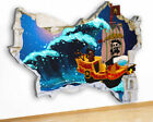 M475 Pirate Ship Waves Sea Boys Canvas Picture Poster Wall Art 3D Stickers Room