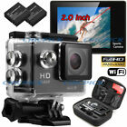 Waterproof WIFI Sports Camera Travel Kit Action DV 1080P Full HD Cam Bags Set
