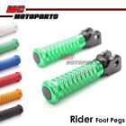 CNC Front Rider Foot Pegs POLE For Kawasaki Ninja 250R 2008-2012 08 09 10 11 12