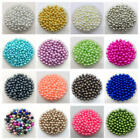 4mm 6mm 8mm 10mm No Hole Imitation Pearls Round Beads DIY Jewelry Making #CA