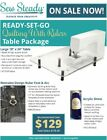 VIKING Sewing Machine Sew Steady READY-SET-GO Extension Table Package