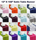 "15pc Wedding 12"" x 108"" Satin Table Runner Party banquet Decoration - FREE SHIP"