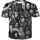 Horror Movie Characters 3D Printed Women/Men's T-Shirts