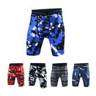 Men Camouflage Tight Shorts Compression Base Layer Running Sports Short Pants US