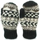 Wool Gloves Mittens Gloves Fleece Lined ABSTRACT Knit Handmade LoudElephant
