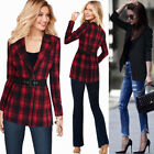 Womens Lapel Two Button Work Office Business Casual Outfit Outwear Jacket Blazer
