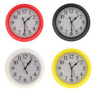 4 Colors Wall Clock, Silent Non Ticking Quality Quartz Battery Operated 9 Inch