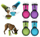 green dog bowl - H-DuO Dual Snack - Water / Food Bottle w/Collapsible Dog Travel Bowl