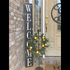 Large Rustic Porch Welcome Sign, Handmade Wood Welcome Sign, farmhouse decor