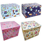 Large Kids Girls Boys Childrens Toy Wipe Clean Tidy Folding Storage Box Chest