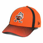 Cleveland Browns New Era NFL Ref Fade 39THIRTY Cap Hat Elf Logo Fitted Football