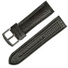 18mm 20mm 22mm 24mm Black Carbon Firber Watch Strap Watch Band Black Rubber Pad