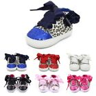 Baby Girls Soft Sole Leopard Lace-up Sneakers Toddler Baby Shoes Prewalkers USA