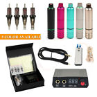 Complete Tattoo Kits Professional T2 Machine Pen Power Supply Needle Tip Pedal