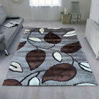 Gloria Brown Luxury Shaggy 3D Design Elegant Area Rugs