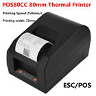 80mm USB Port ESC/POS Receipt Label Barcode Thermal Printer w/ Printing Paper CO