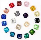80PCS Mixed Colors Pointed Square Fancy Glass Stones (Various Sizes)
