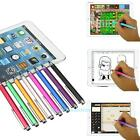 Fine Point Round Thin Tip Capacitive Stylus Pen For iPhone Mini iPad 2 3 4 Air 2