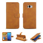 Slim Leather Flip Leather Card Wallet Case Cover For Samsung Galaxy Phone/S9+/S8
