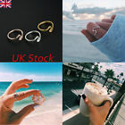 Trendy Fashion Wave Ring Band Swirl Simple Knuckle Plain Sterling Silver Gold Uk