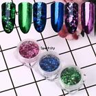 Mirror Glitter Nail Sequins Flakes Powder Nail Art Pigment Decoration LEBB