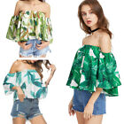 Fashion Women Summer Loose Casual Blouse Ladies Sexy Off Shoulder Shirt Tops NEW