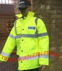 SIA SECURITY COAT SECURITY PRINTED JACKET COAT + HiViz stripping EN 471 CLASS 3