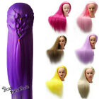 Внешний вид - US Seller Colorful Hair Mannequin Hairdressing Training Head  Practice Doll