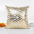 Gold Metallic Printed Cushion Cover Pillow Decor Pillow Case Home Square Sofa BD