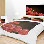 Designart 'Poppy Flowers Vector Art' Floral Be sick Blanket