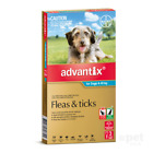 NEW Advantix - Flea and Tick Treatment for Dogs 4kg - 10kg