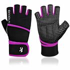 """Top Weight Lifting Gloves with 17.7"""" Wrist Wraps Support  Pro Padded Gym Gloves"""