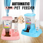 Large Automatic Auto Feeder Pet Dog Cat Puppy Water Drinker Dispenser Food Bowl