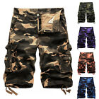 Mens Military Combat Camo Cargo Hiking Shorts Pants Work Casual Short Trousers