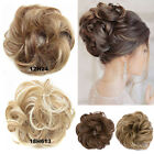 UK Lady Wavy Messy Bun Scrunchie Hair Extensions Thick Soft as Human Natural Fkm