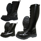 Boots & Braces Black Steel Toe Rangers 10 14 20 Hole Punk Skinhead Biker