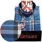 Warrior UK England Button Down Shirt JONES Slim-Fit Skinhead Mod Retro