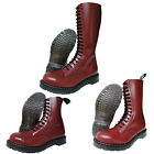 Solovair NPS Hand Made in England Cherry Red Steel Toe Boots Punk Skinhead Biker