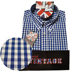 Warrior UK England Button Down Shirt STEADY Slim-Fit Skinhead Mod Retro