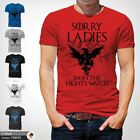 Night's Watch Sorry Ladies Game Of Thrones T-Shirt GOT Jon John Snow Red