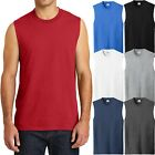 BIG MENS Sleeveless Muscle T-Shirt Cotton Gym Run Basketball 2XL, 3XL, 4XL NEW image