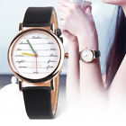 Women Girl Colorful Leather Band Stainless Steel Watch Analog Quartz Wrist Watch image