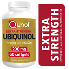 Qunol Ubiquinol 100 mg & 200 mg Active Form of CoQ10 Natural Supplement Softgels $29.99 USD on eBay