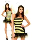 Ladies BUMBLE BEE + WINGS + HEADBAND Fancy Dress Costume Adult Insect Outfit
