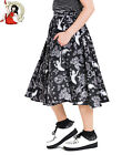 HELL BUNNY SPOOKY pumpkin HALLOWEEN bat CAT GHOST 50s CIRCULAR SKIRT XS-4XL