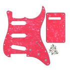 New 4Ply Pearloid Fender Strat Style Guitar Pickguard SSS 11 Holes & Back Plate