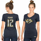 CCM Mike Fisher Nashville Predators Women's Name & Number Tri-Blend V-Neck on eBay