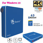 Quad Core DDR3 8G+64G 64Bit Mini PC Dual Band WiFi Bluetooth HDMI For Win10 CO