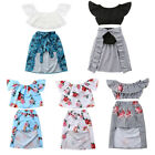 Toddler Baby Kid Girl Dress Floral Pageant Party Bridesmaid Dress Outfit Clothes