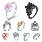 Women Emerald Fashion Jewelry Diamond Inlay Zircon Ring Zircon Ring Woman Lot